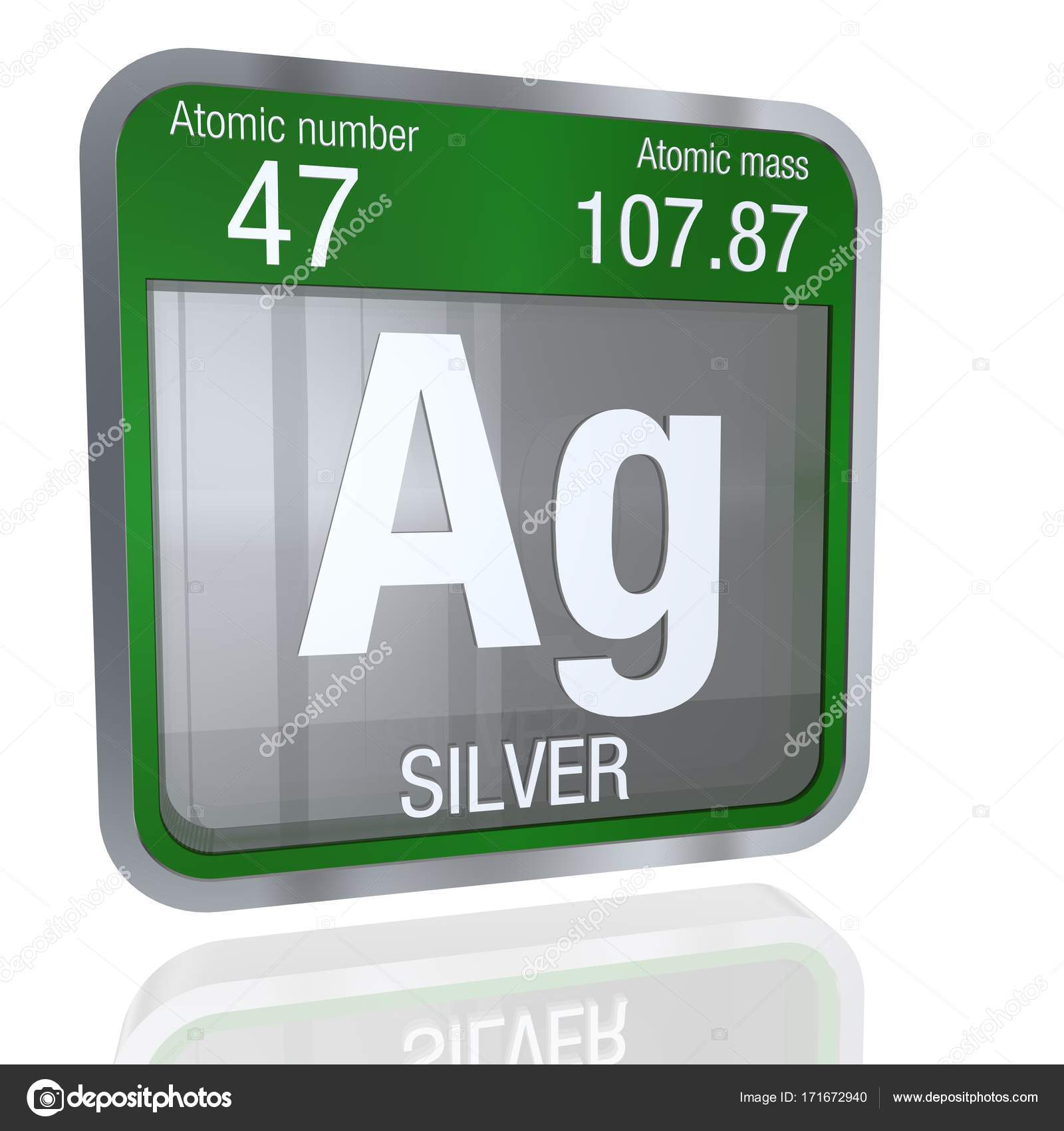Silver symbol in square shape with metallic border and transparent silver symbol in square shape with metallic border and transparent background with reflection on the floor 3d render element number 47 of the periodic urtaz Choice Image
