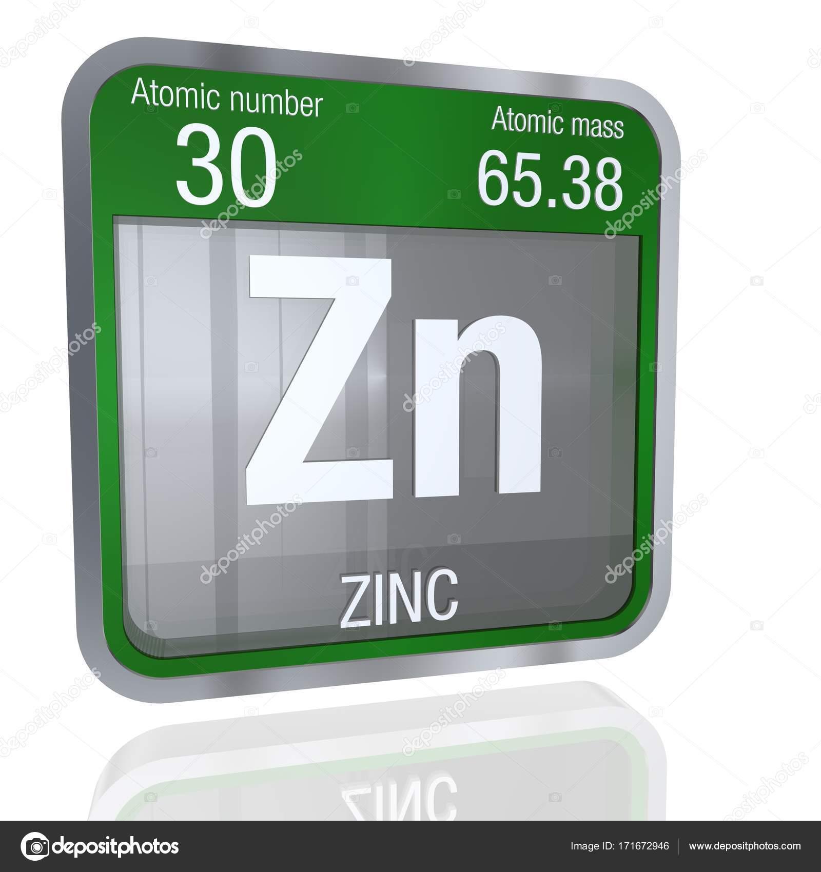 Smbolo de zinc en forma cuadrada con borde metlico y fondo elemento nmero 30 de la tabla peridica de los elementos qumica foto de alejomiranda urtaz Images