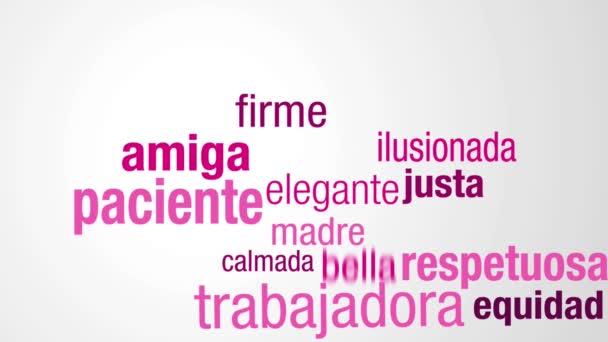 Grußkarte Mit Nachricht Feliz Dia Mujer Glücklich Frauentag