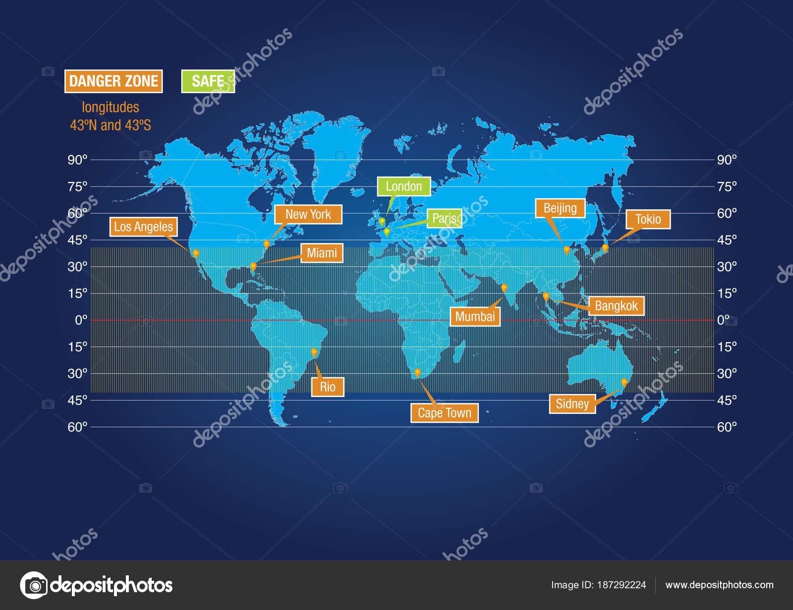 Map showing risk zone china tiangong space station crash earth map showing risk zone china tiangong space station crash earth stock vector gumiabroncs Choice Image