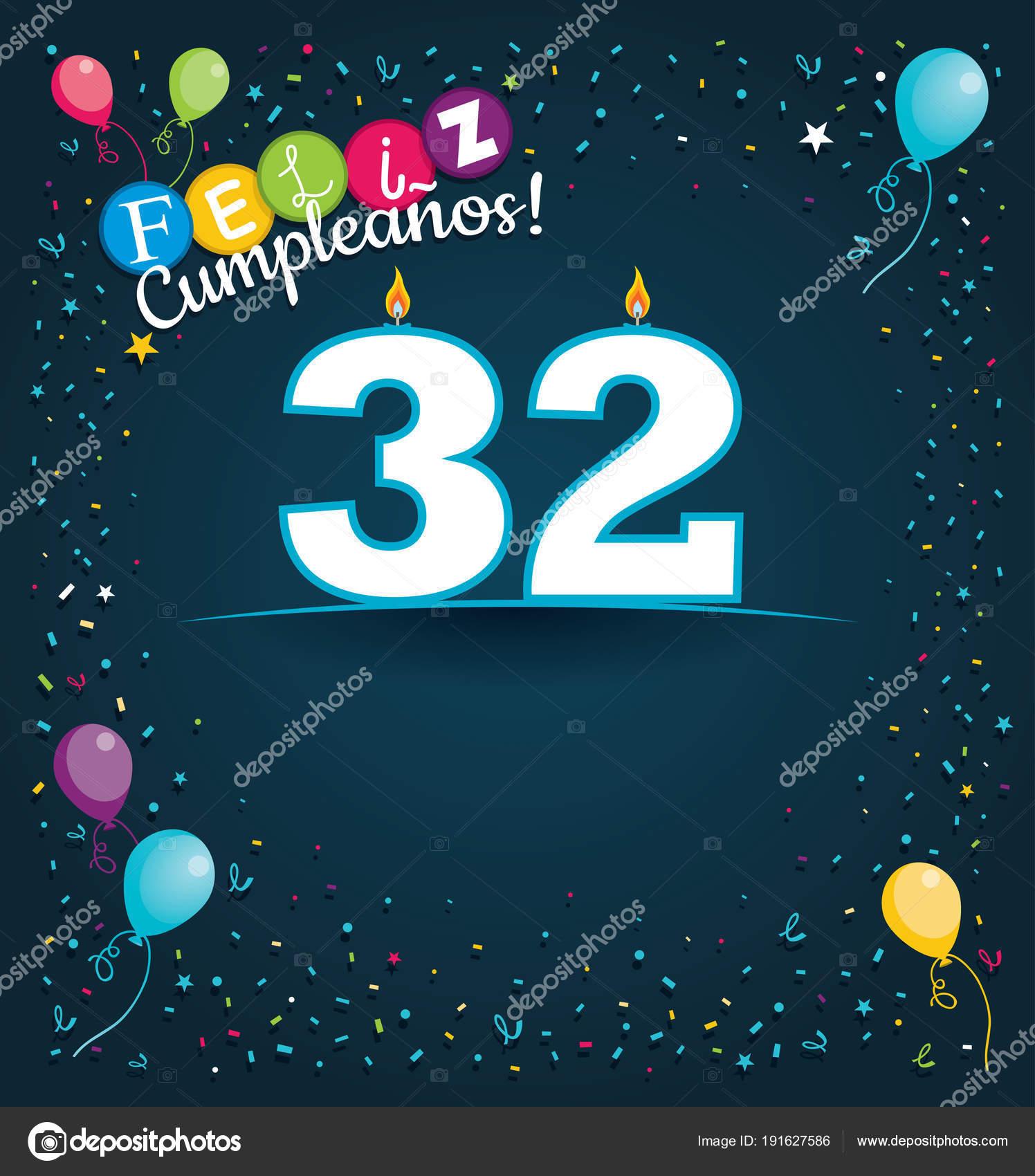 Feliz Cumpleanos Happy Birthday Spanish Language Greeting Card White