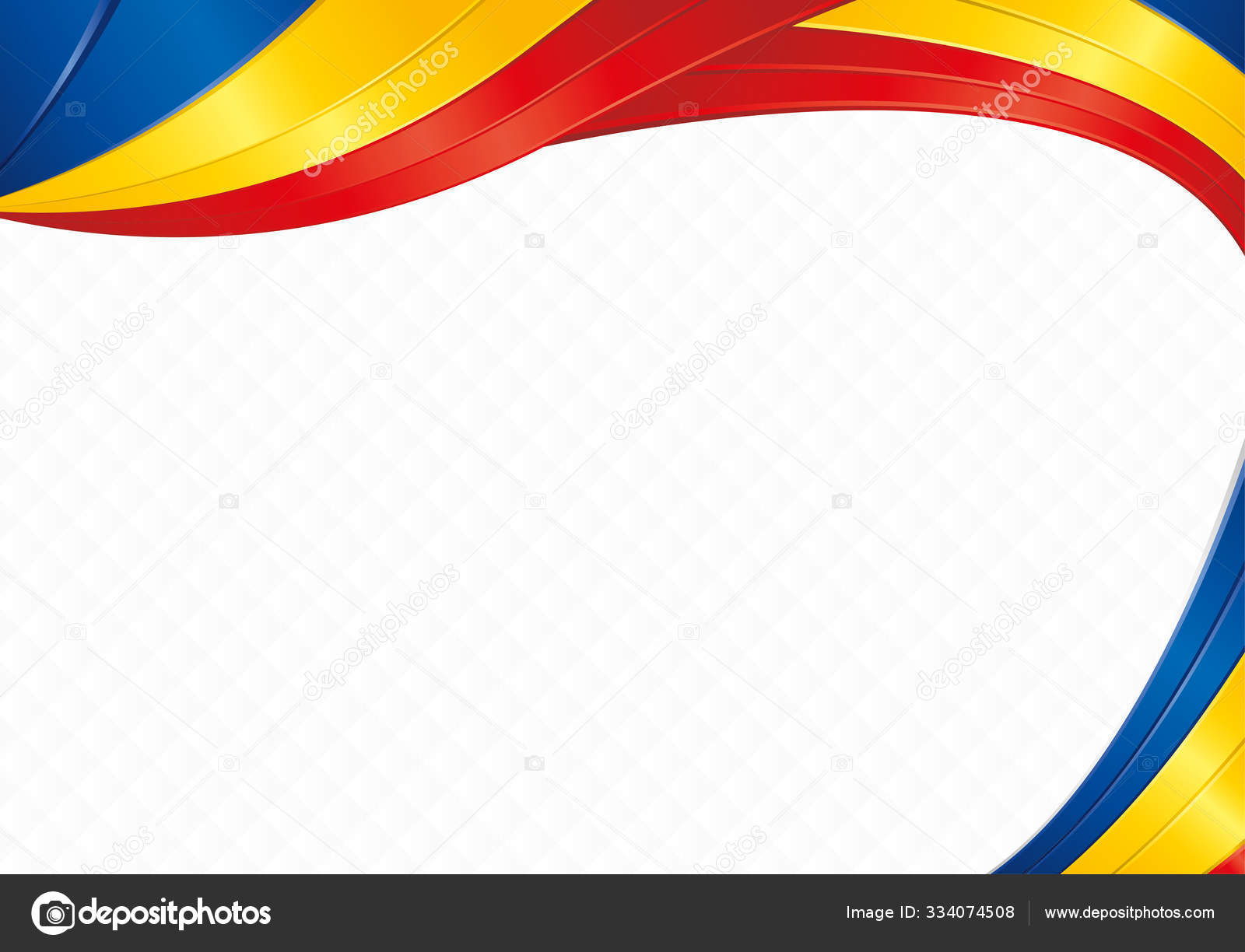 Abstract Background Wave Shapes Blue Yellow Red Colors Flag Romania Stock Vector Image By C Alejomiranda 334074508