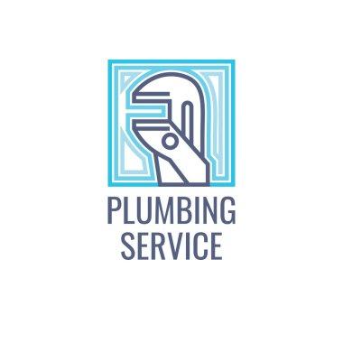 Logo, plumbing service.