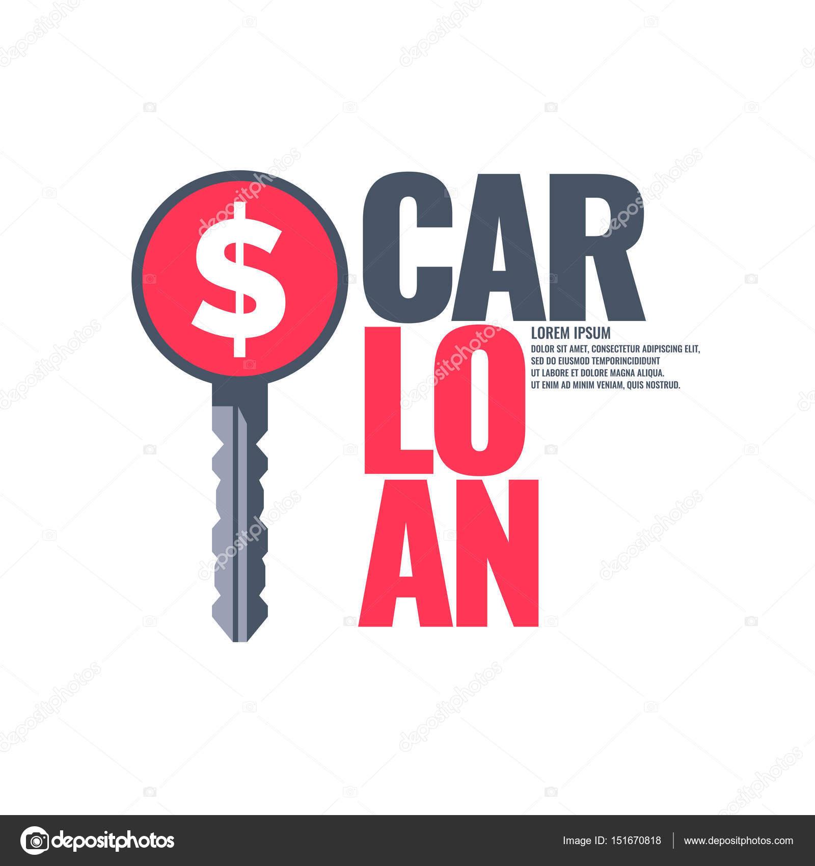 Cartel de un préstamo de coche — Archivo Imágenes Vectoriales ...