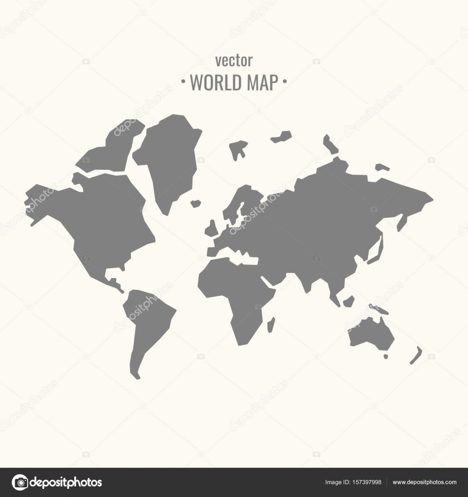Vector illustration of world map in trendy flat minimal style vector illustration of world map in trendy flat minimal style stock vector gumiabroncs Images