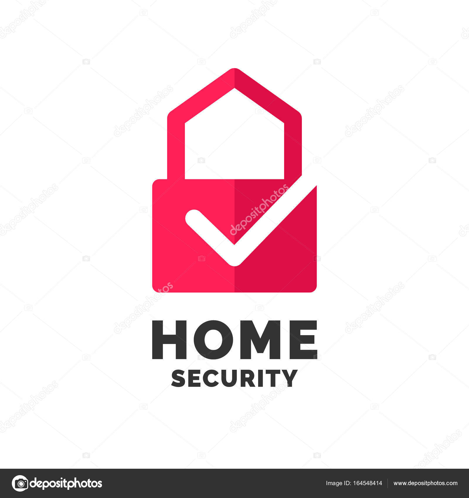 Modern minimalistic vector logo design for home security. — Stock ...