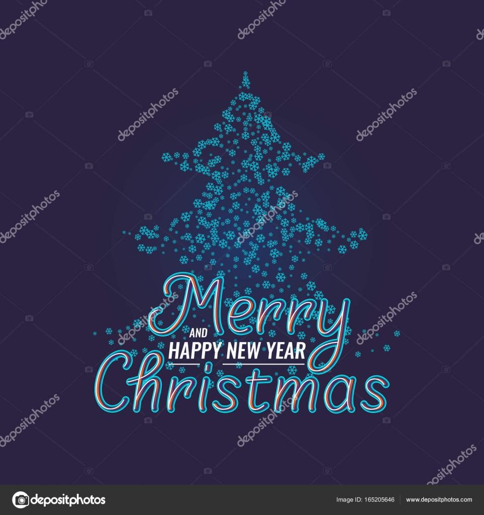Frasi Natale E Buon Anno.Buon Natale E Felice Anno Nuovo Frase Di Lettering Moderno