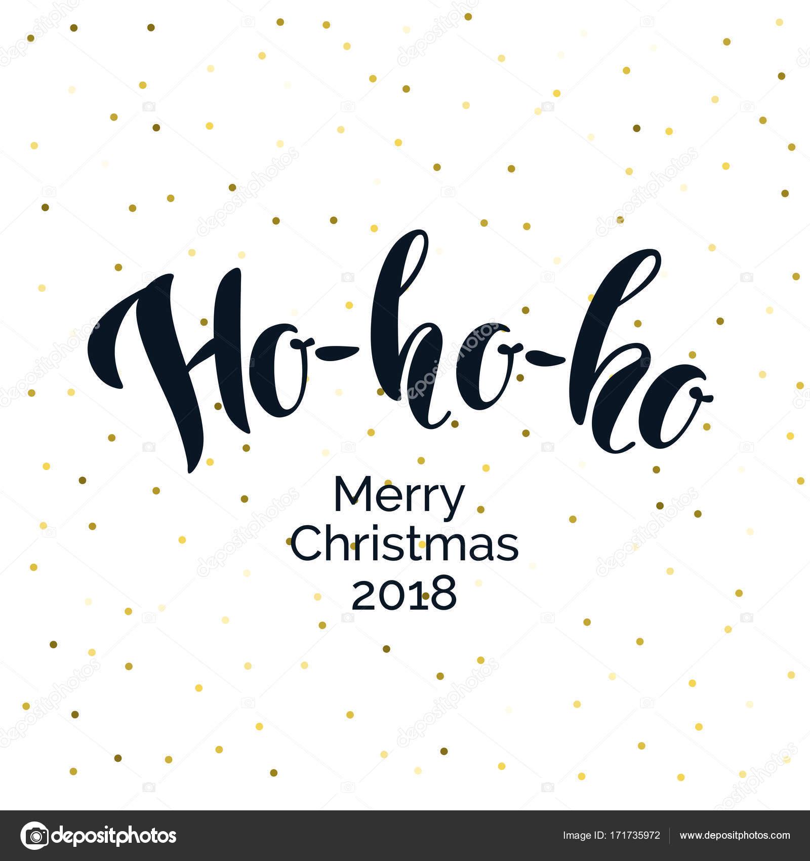 Ho Ho Ho Merry Christmas.Modern Hand Drawn Lettering Phrase Ho Ho Ho Merry