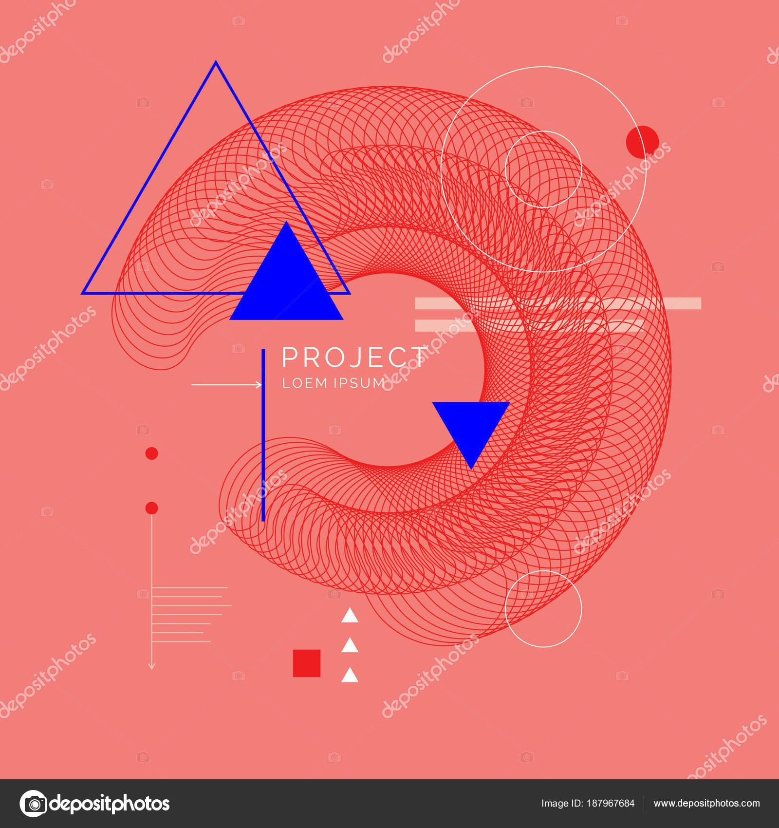 Tendance Art Abstrait Geometrique Fond Avec Plat Style Minimaliste