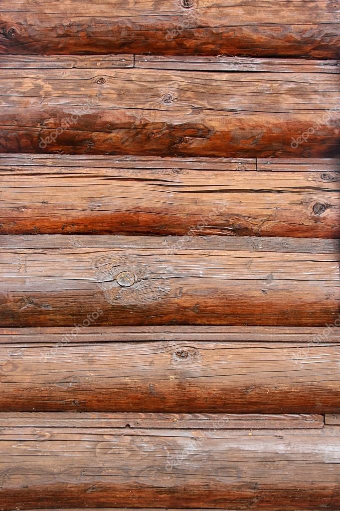 La texture della parete ceppo di legno della casa di for Piani economici della cabina di ceppo