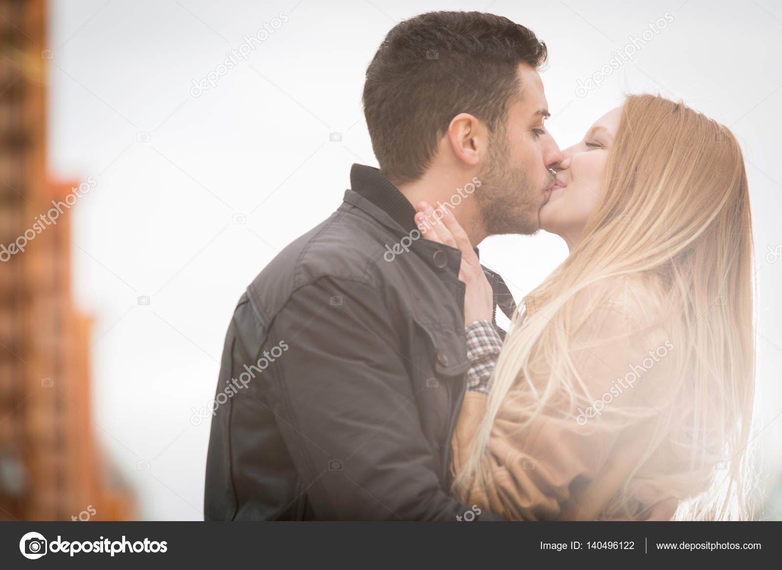 love kiss man and woman