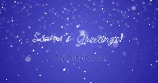 Looping seasons greetings message in englishgermanfrenchspanish looping seasons greetings message in englishgermanfrenchspanishitalianportuguese multi language with copy or logo space on blue background m4hsunfo