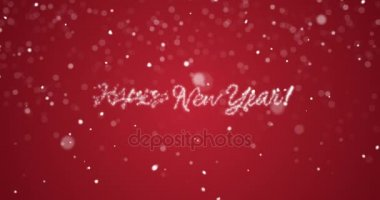 Greetings card happy new year hd stock video enchantedstudios looping happy new year message in englishgermanfrenchspanishitalian m4hsunfo