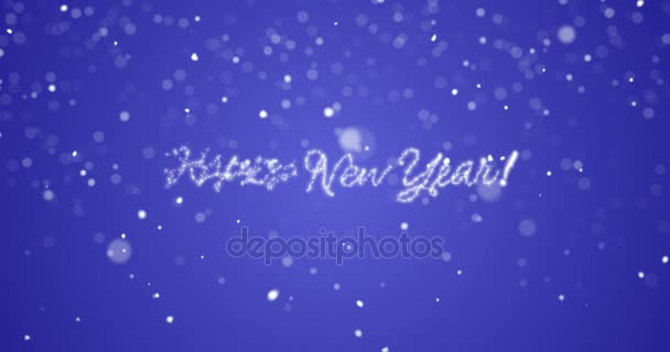 looping happy new year message in englishgermanfrenchspanishitalian
