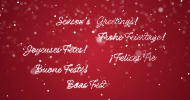 Looping Seasons Greetings Message In EnglishGermanFrenchSpanish