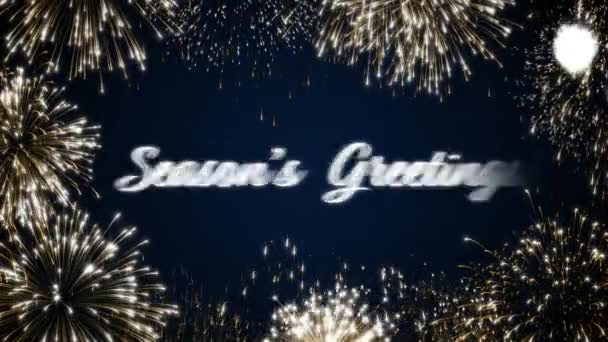 Looping animated fireworks seasons greetings social post cardloop looping animated fireworks seasons greetings social post cardloop holiday celebration conceptltiple languages m4hsunfo