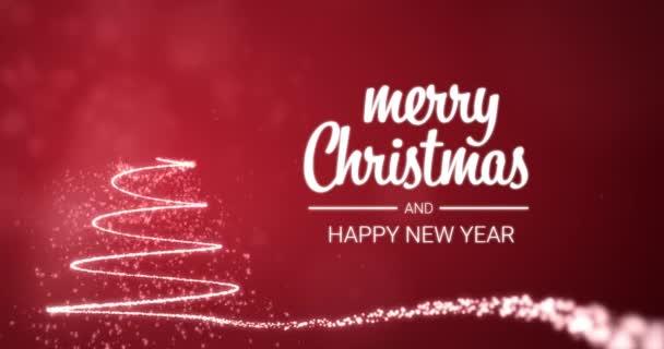 Buon Natale In Inglese.Scintillanti Luci Natale Albero Buon Natale E Felice Anno Nuovo