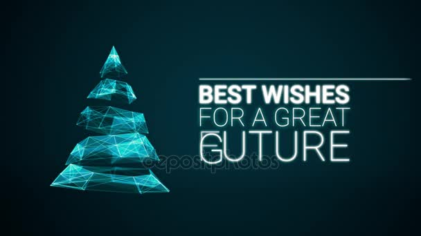 Modern christmas tree and wishes great future season greetings modern christmas tree and wishes great future season greetings message on blue background elegant animated m4hsunfo