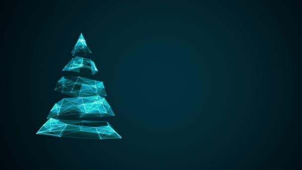 moderne zukünftige Weihnachtsbaum mit textfreiraum für Saison Grüße ...
