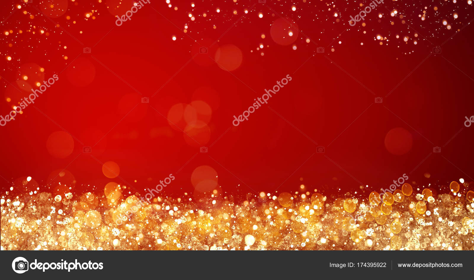 Golden and silver xmas lights on red background for merry christmas golden and silver xmas lights on red background for merry christmas or season greetings message m4hsunfo