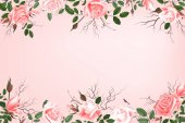 Fotografia Cartolina dauguri con le rose, acquerello, utilizzabile come carta di invito per il matrimonio, compleanno e altro sfondo vacanze ed estate. Illustrazione di vettore