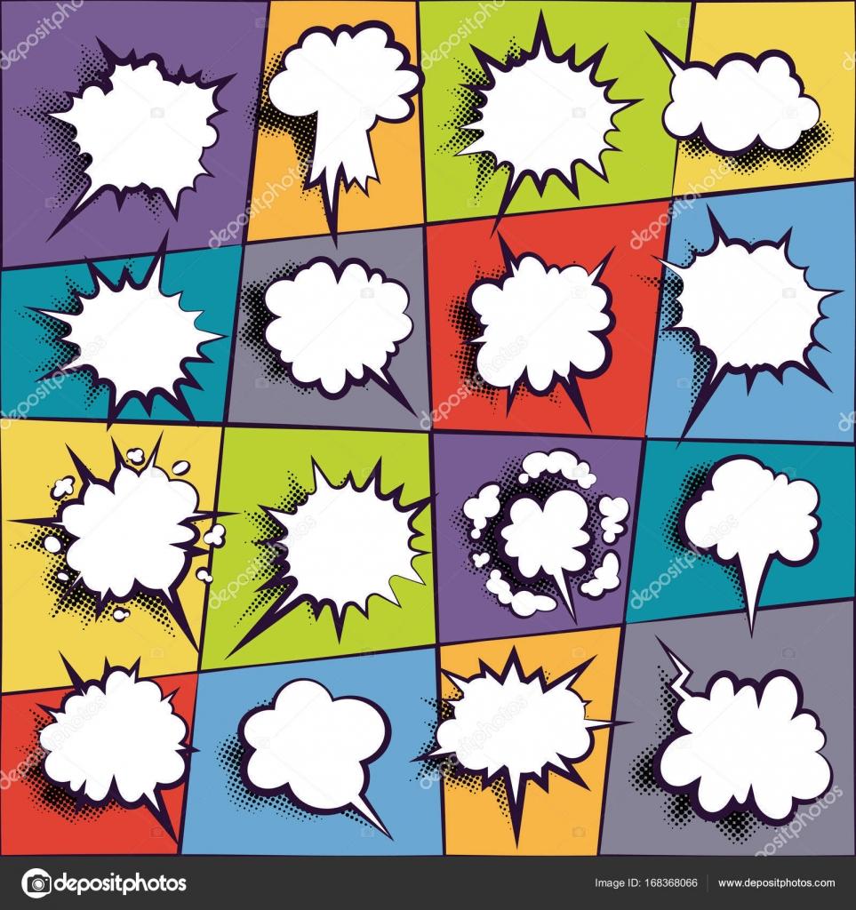 Comic Buch Dialogfeld leere Wolke — Stockvektor © fantrazy.gmail.com ...