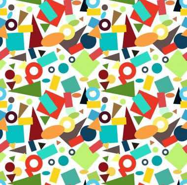 Seamless pattern in style of supermatism. Abstract geometric for