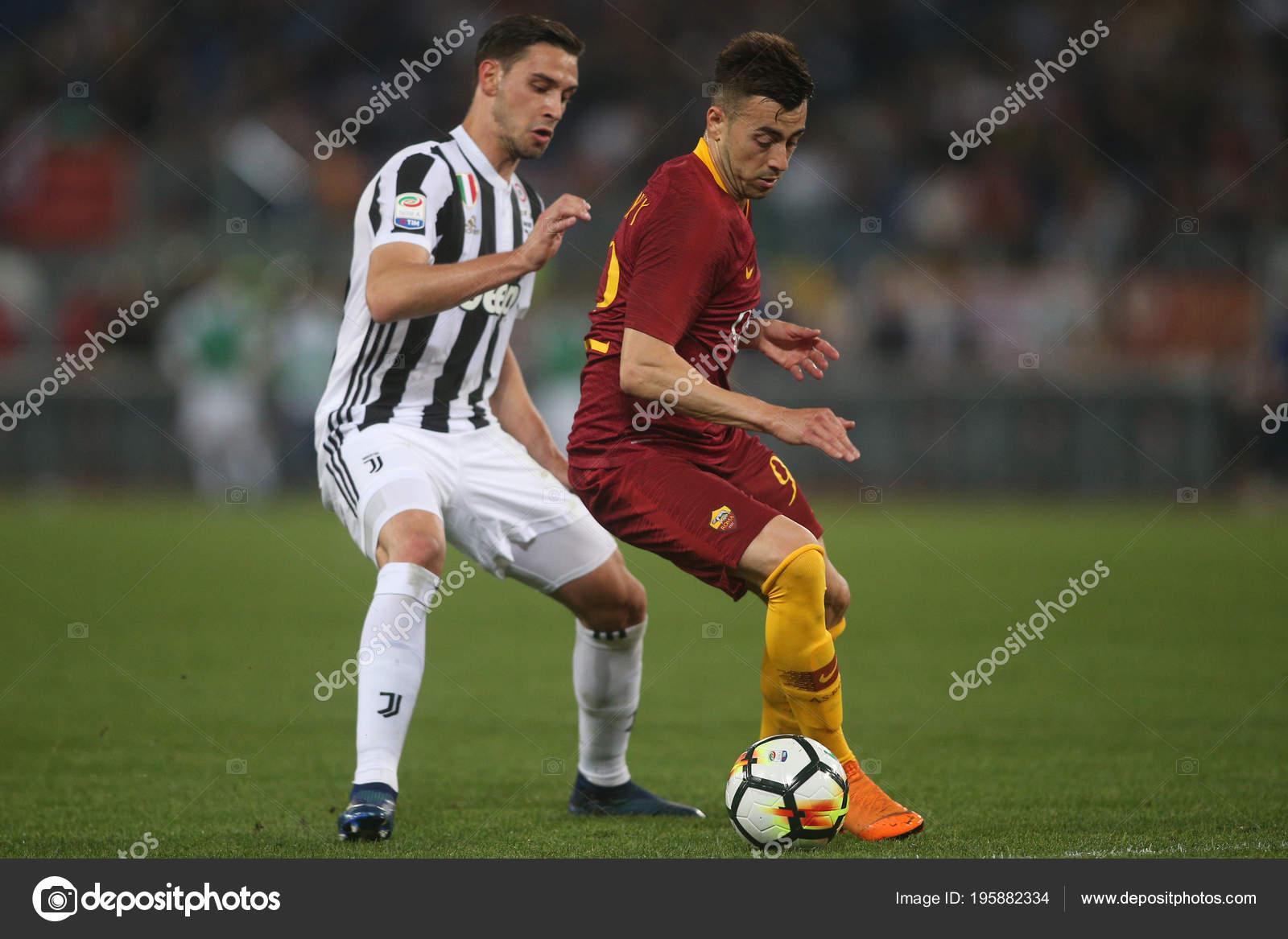 2018 Stadio Olimpico Rome Italy Serie Roma Juventus Sciglio Shaarawy