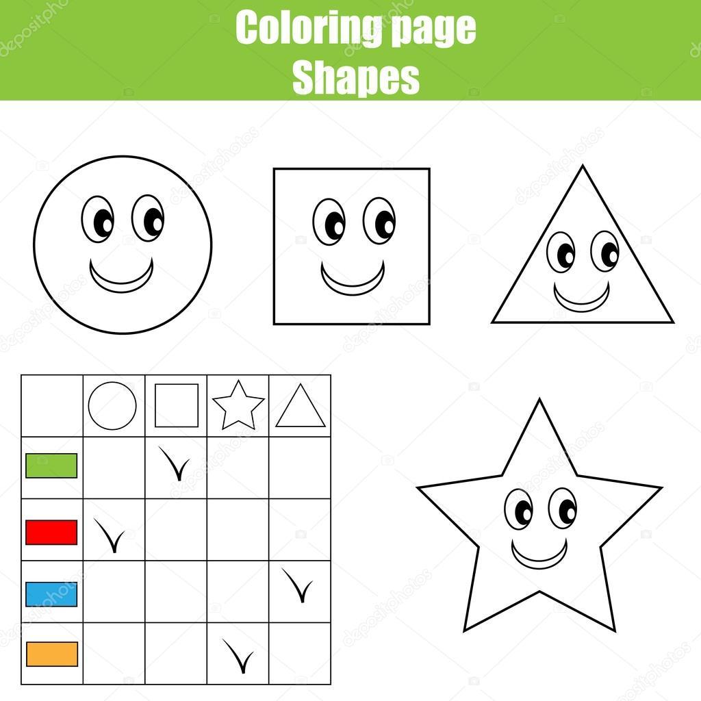 Hoja página para colorear. Juego de niños educativo, actividad de ...