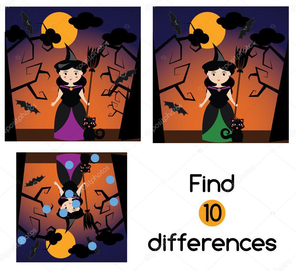 Finde die Unterschiede pädagogische Kinder Spiel. Kinder Aktivität ...