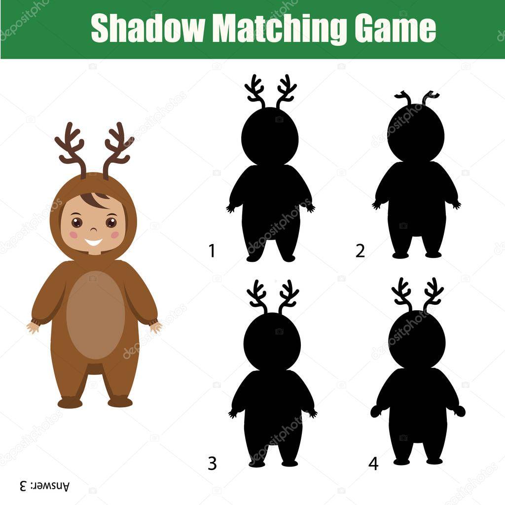 Juego de sombras. Tema de la Navidad, la actividad de los niños ...