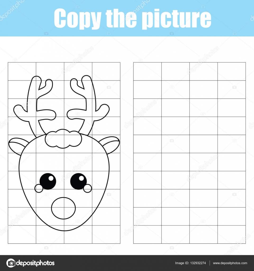 Raster kopieren Kinder Lernspiel, Zeichnen von Aktivitäten für ...