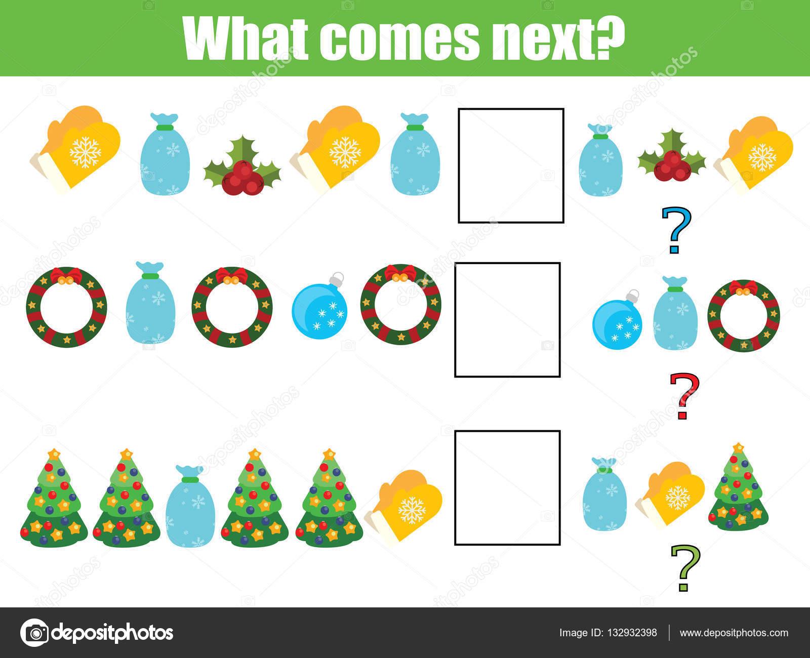 Was kommt nächstes pädagogische Kinder Spiel. Kinder Aktivität Blatt ...