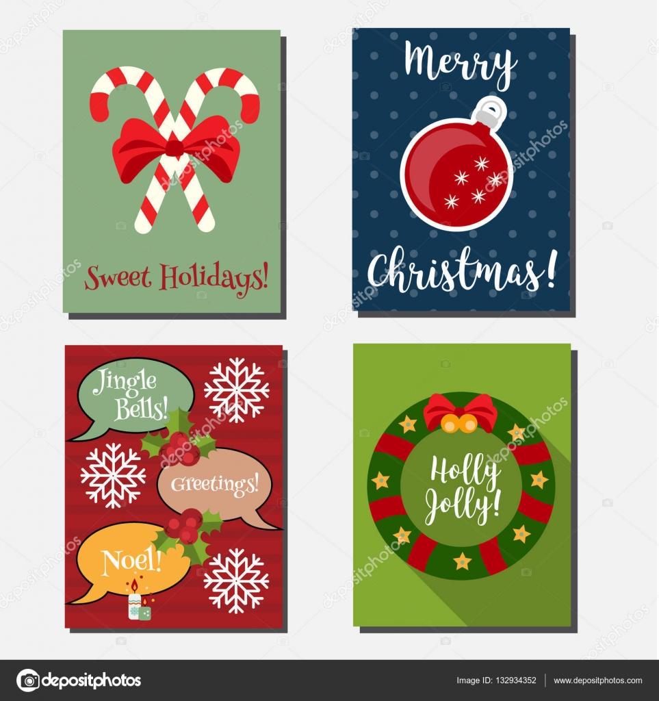 Navidad, año nuevo vacaciones vector banners verticales, tarjetas ...