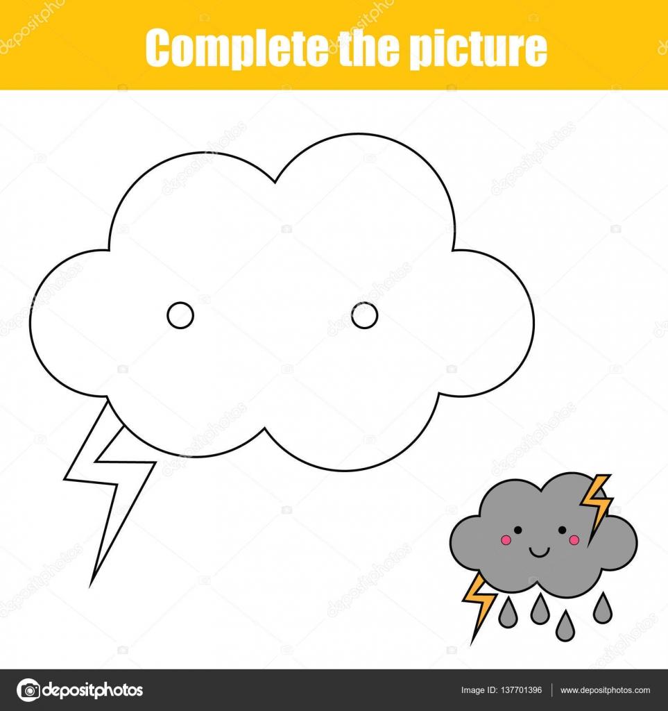 Completa el juego educativo niños del cuadro, página para colorear ...