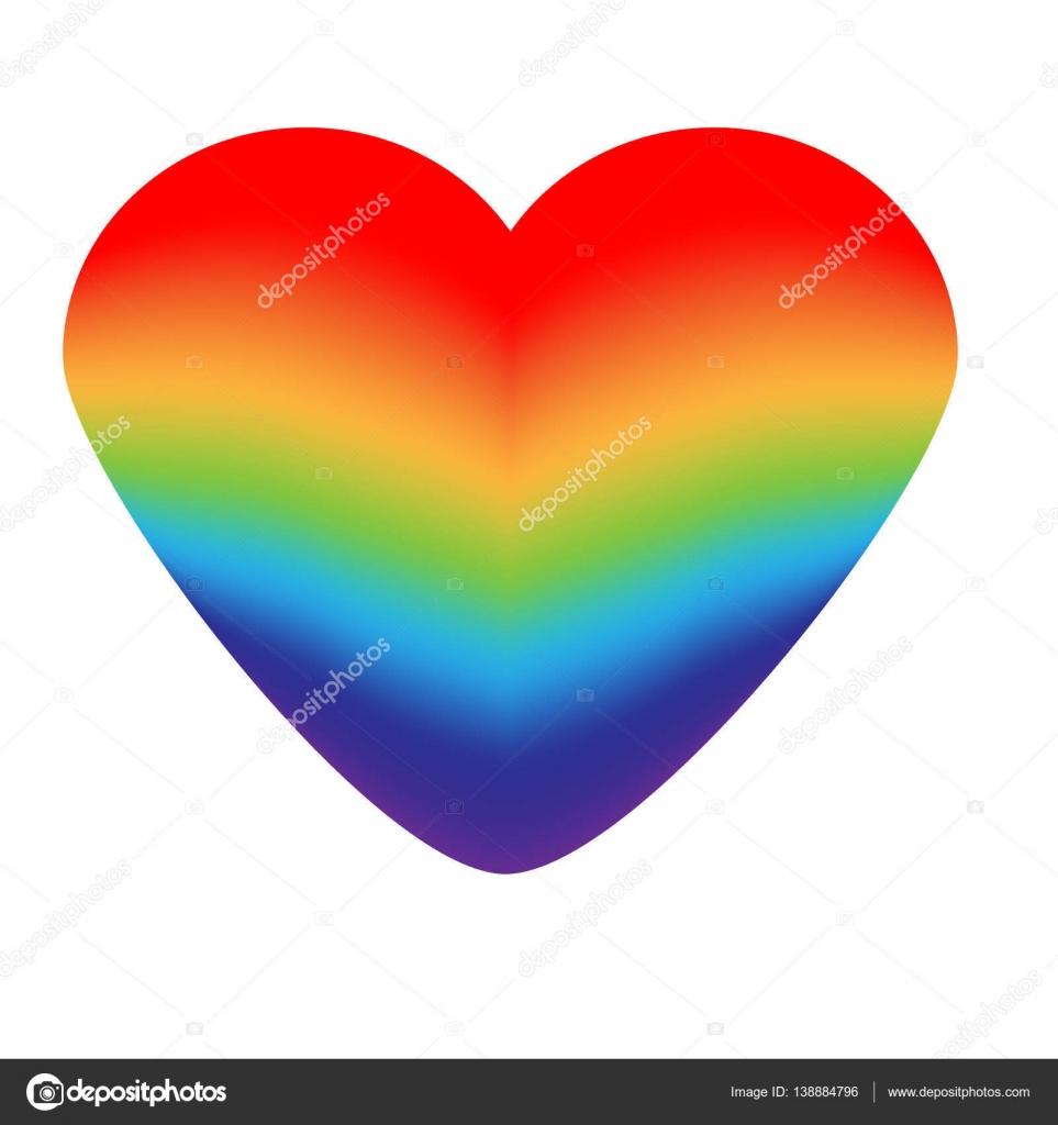 Rainbow Heart Lgbt Symbol Stock Vector Bonnyheizeail