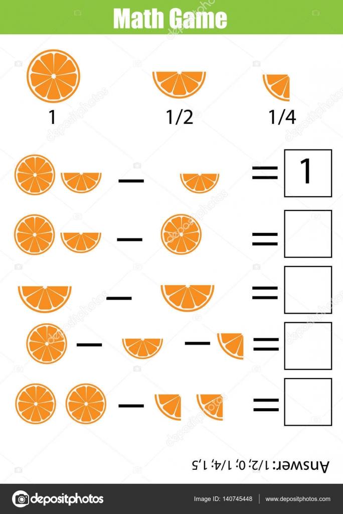 Matemáticas educativas contando juego para niños, hoja de cálculo de ...