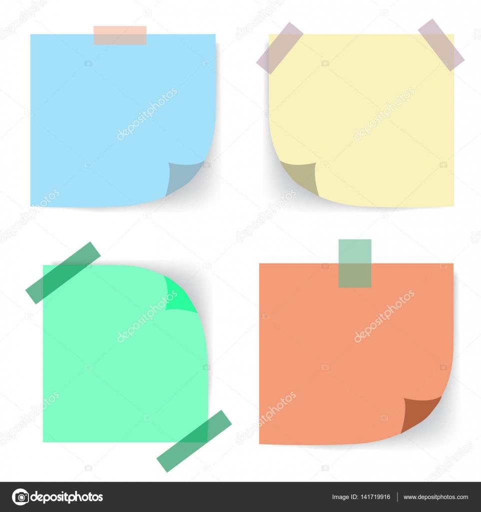 skrivarpapper med klister