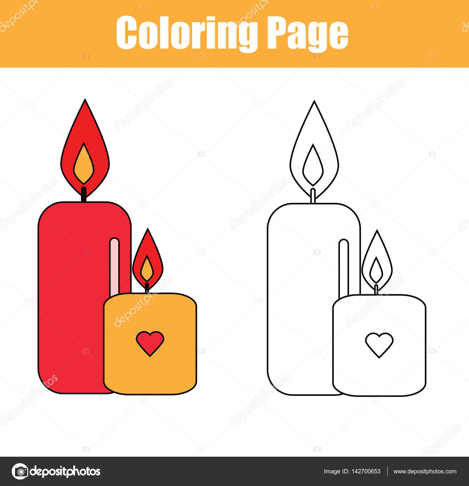 Lampara Encendida Para Colorear Página Para Colorear Con