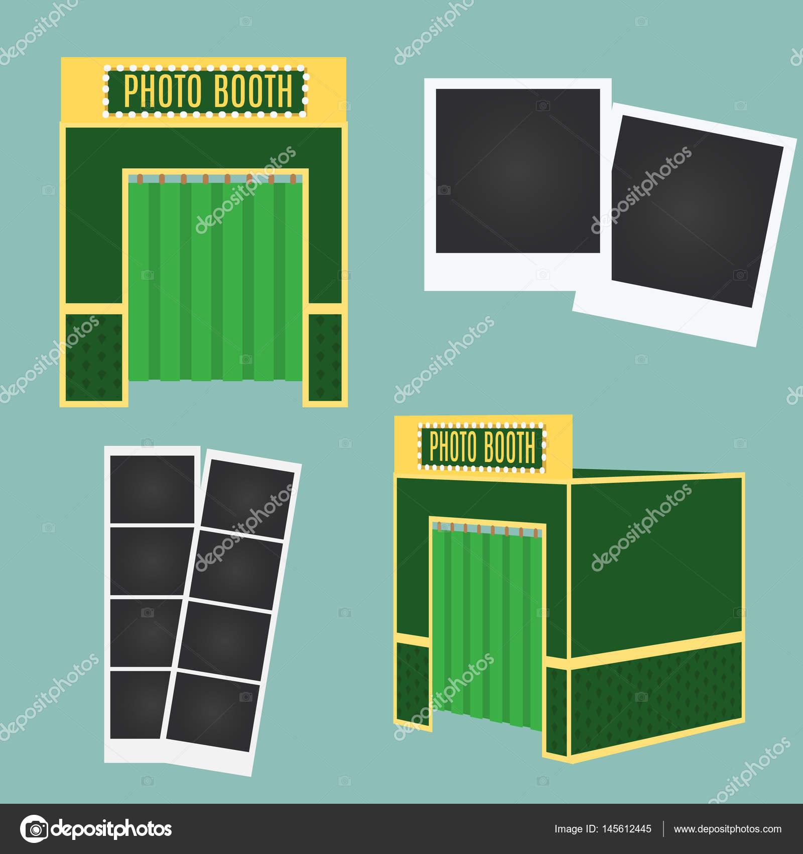 Flach und 3d Foto Stand Icon. Infografik-Element. Klassische ...