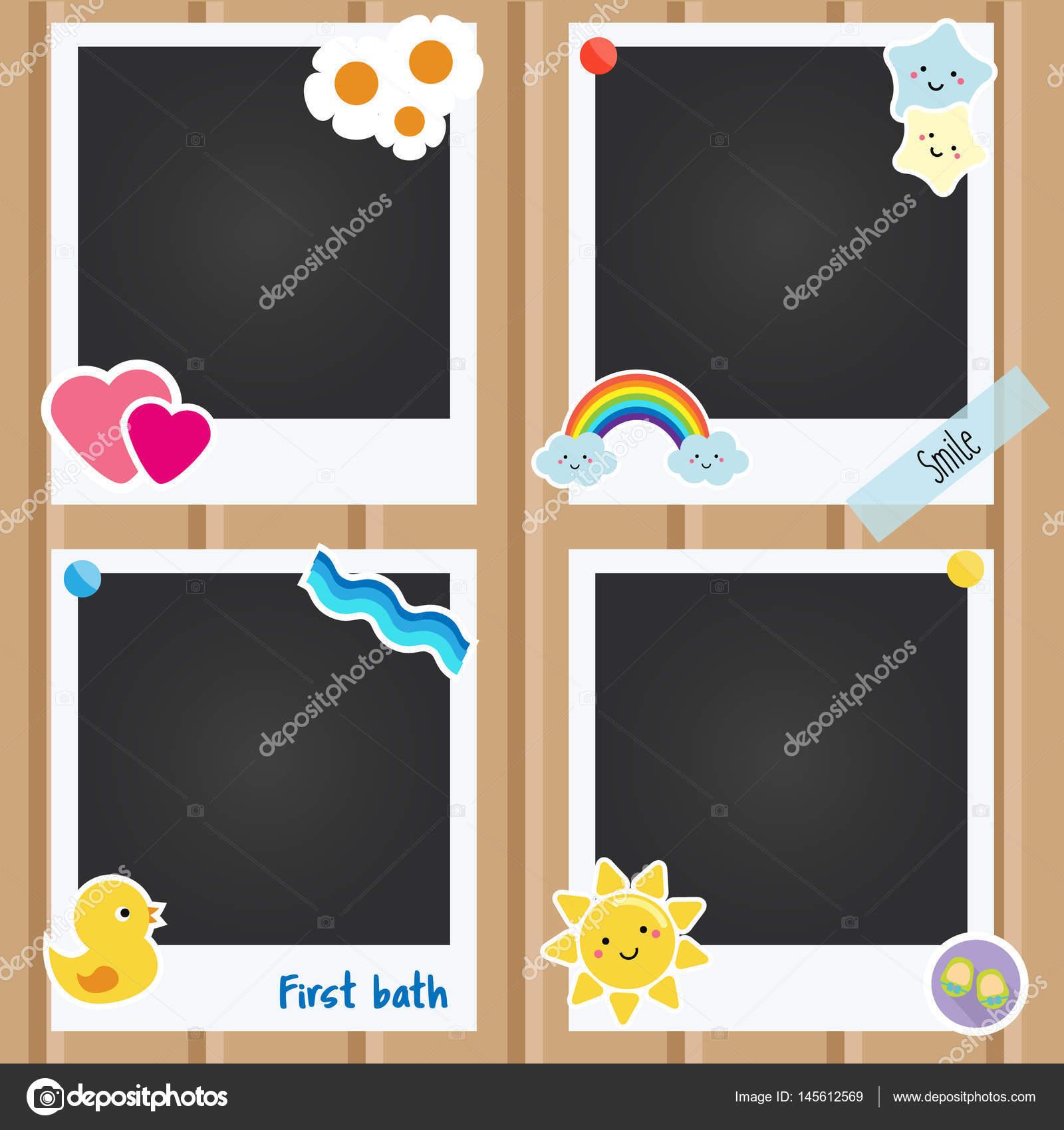 Cornici Foto Bambini.Vettore Cornici Per Bambini Cornici Per Foto Realistico