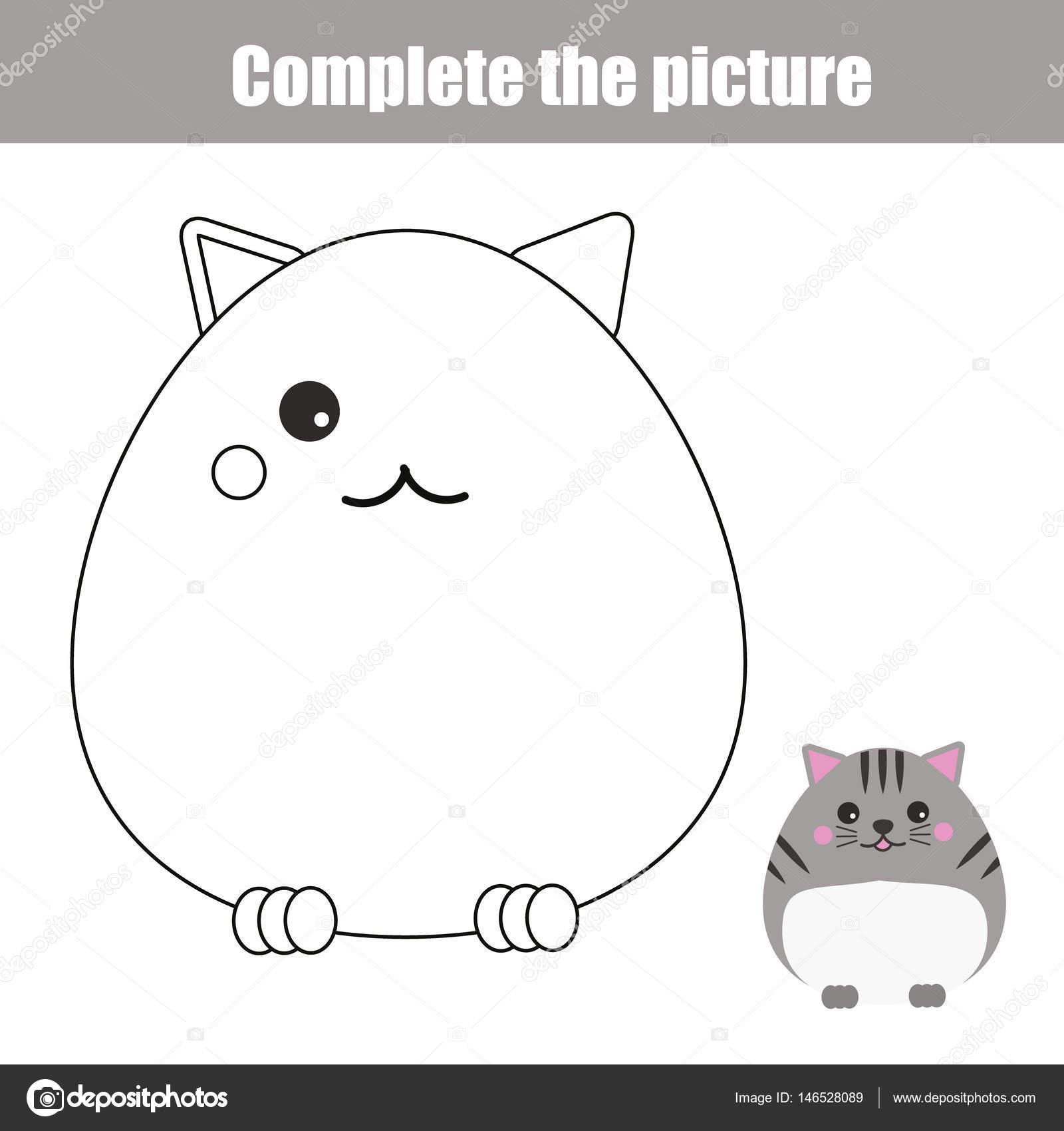 Imagen completa niños educativo, para colorear página del juego ...