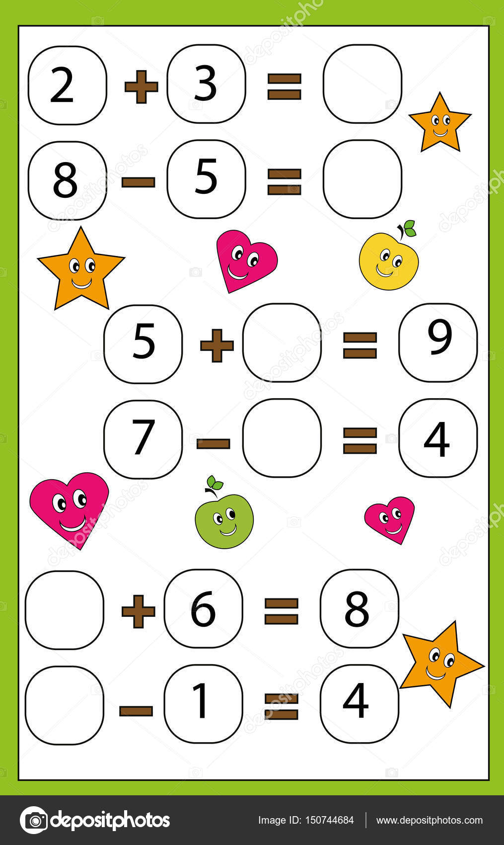 Math educational game for children. Learning counting and algebra ...