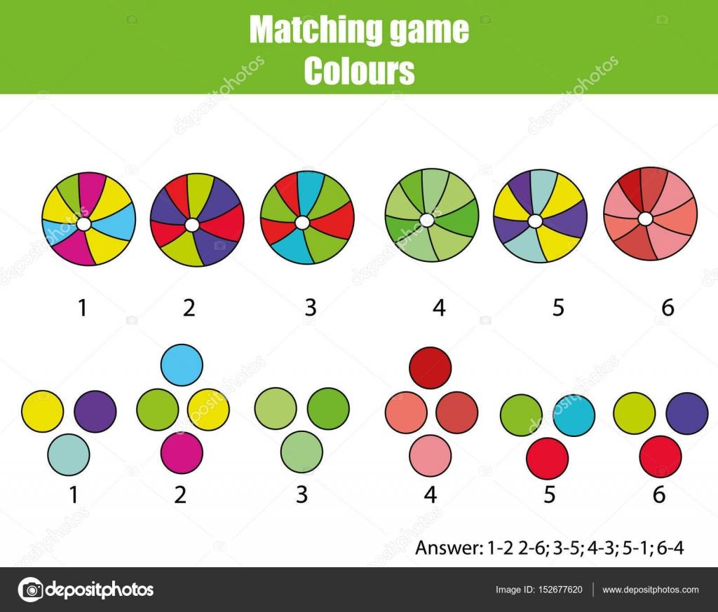Pädagogische Kinder Spiel. Anpassen von Farbe — Stockvektor ...