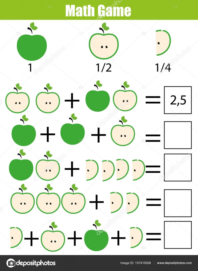 worksheet Counting Quarters Worksheet math educational counting game for children addition worksheet learning fractions half quarters