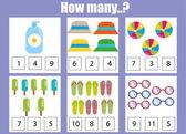 Počítání vzdělávací děti hry děti činnost listu. Kolik objekty. Učení matematice
