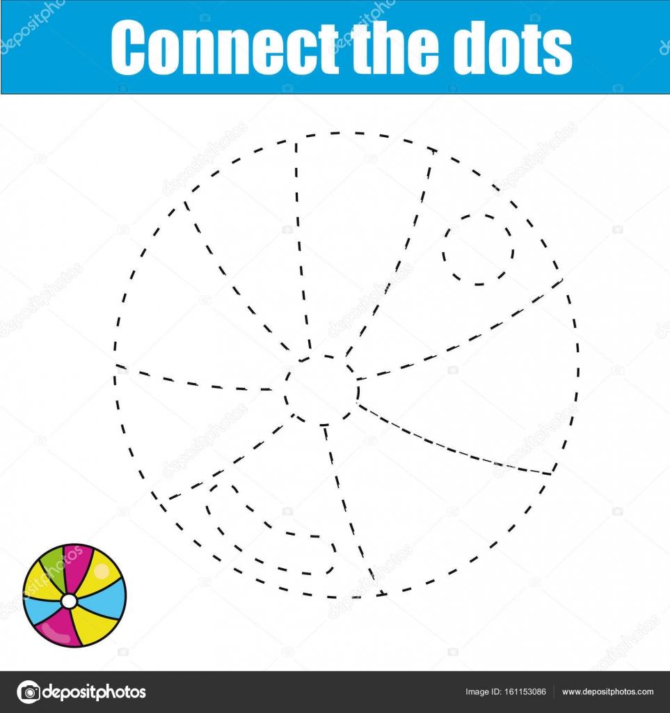 Verbinde die Punkte. Lernspiel für Kinder. Druckbare Arbeitsblatt ...