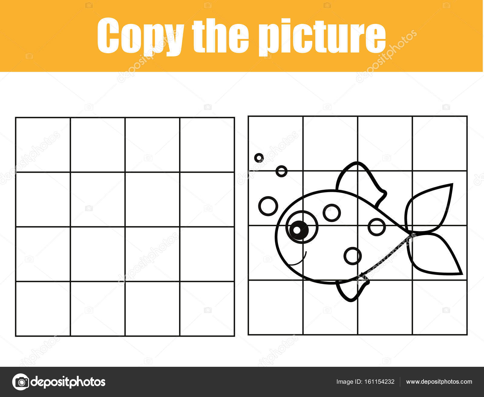 photograph relating to Printable Kids Game known as Grid replica worksheet. informative small children recreation. Printable