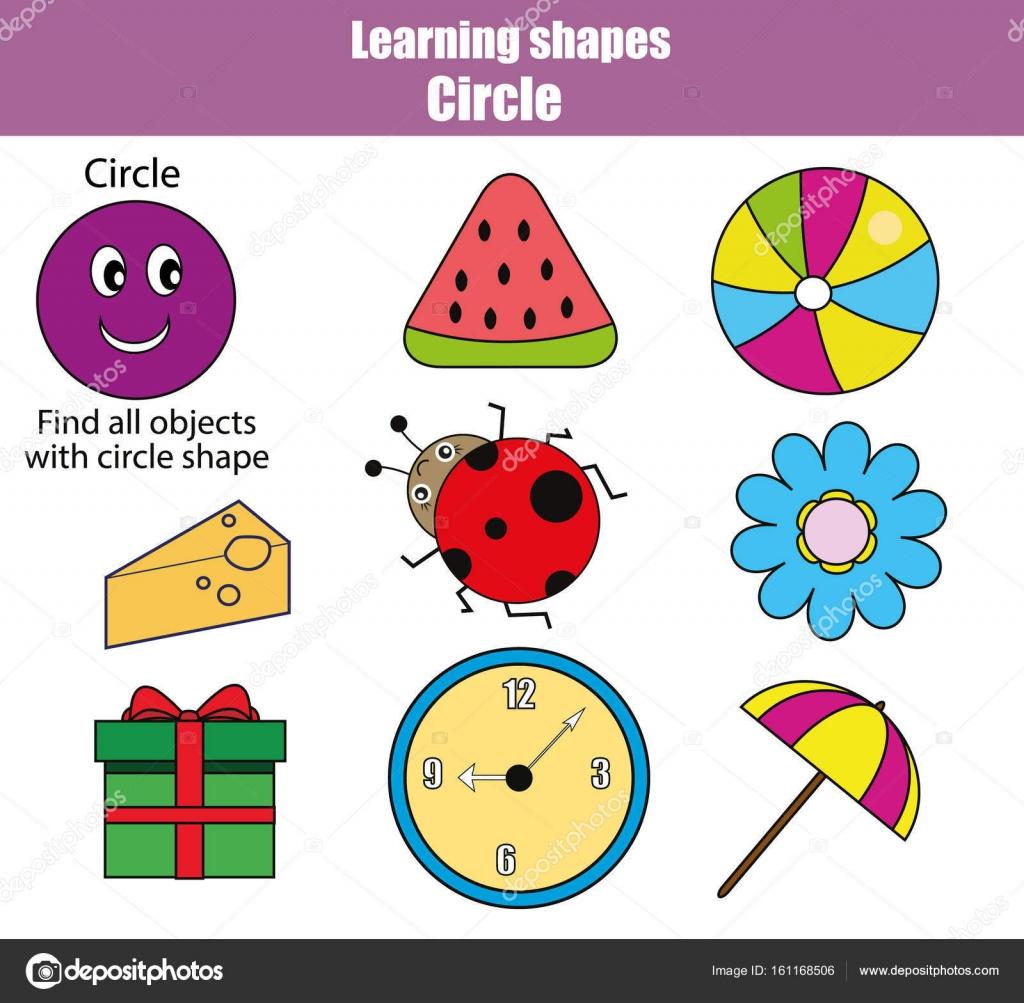 Pädagogische Kinder Spiel, Kinder-Aktivität. Formen lernen, Kreis ...