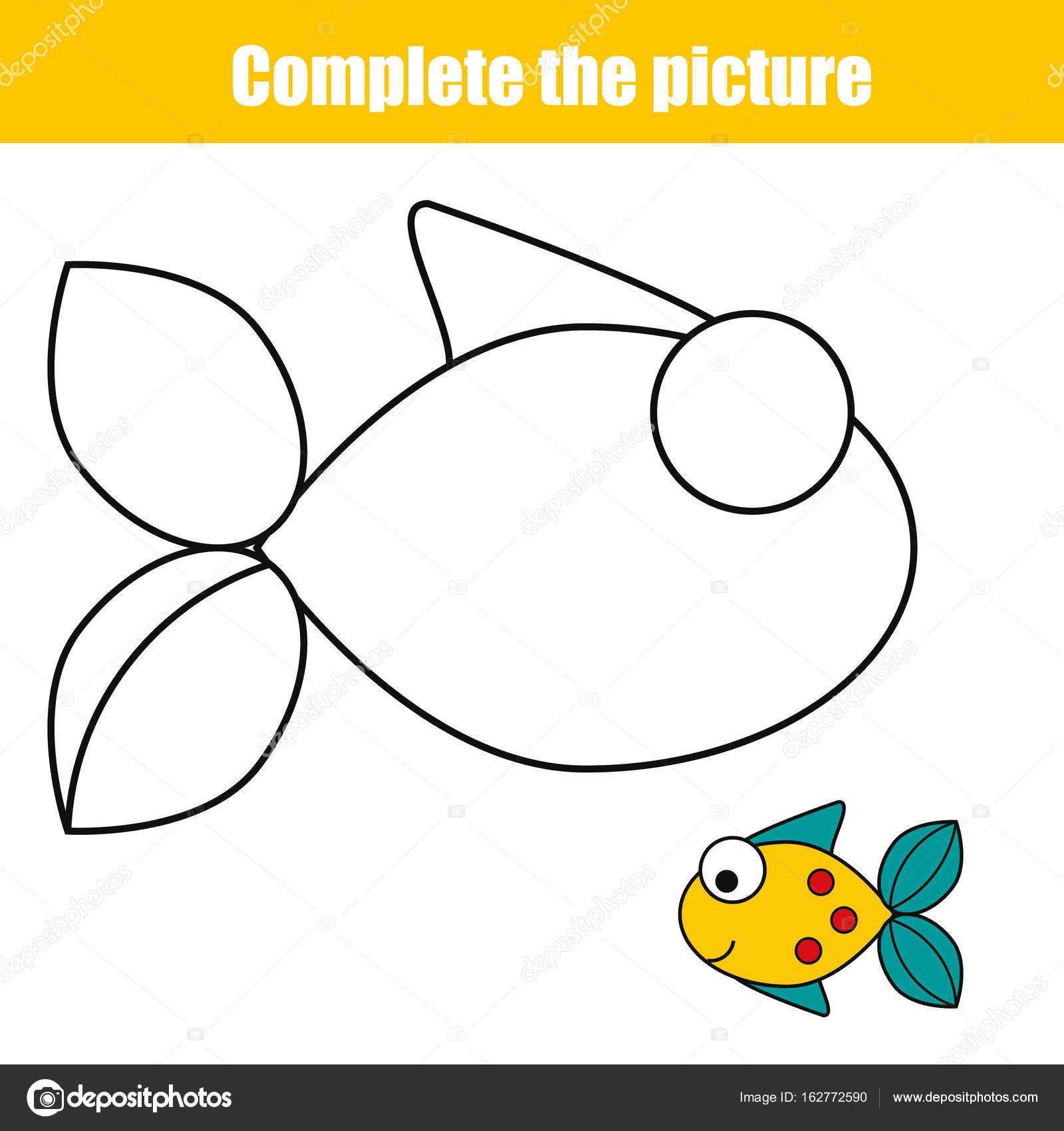 Vervollständigen Sie das Bild Kinder Lernspiel, Malvorlagen ...
